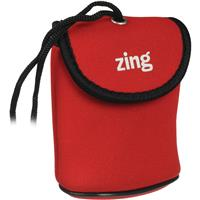 Image of Zing Red Neoprene Case for Medium Size Point & Shoot Cameras, with Belt Loop & Neck Strap