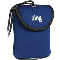 Image of Zing Blue Neoprene Case for Small Size Point & Shoot Cameras, with Belt Loop & Neck Strap