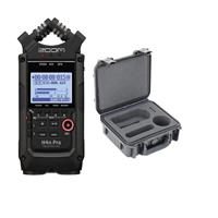 Image of Zoom H4n Pro 4-Input/4-Track Portable Handy Recorder with Onboard X/Y Mic Capsule, All Black - With SKB 3I0907-4B-01 Hardcase for Zoom H4n Recorder