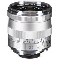 Image of Zeiss 25mm f/2.8 T* ZM Biogon Lens, for Zeiss Ikon & Leica M Mount Rangefinder Cameras, Silver