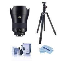 Compare Prices Of  Zeiss Otus 1.4/28mm Wide-Angle Lens with F Mount ZF.2 - Bundle With FotoPro X-Go Max Carbon Fiber Tripod with Built-In Monopod, FPH-62Q Ball Head, Cleaning Kit, Microfiber Cloth