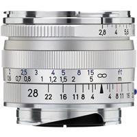 Image of Zeiss 28mm f/2.8 T* ZM Biogon Lens, for Zeiss Ikon & Leica M Mount Rangefinder Cameras, Silver