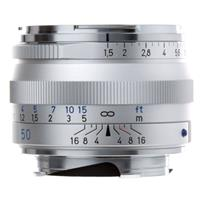 Image of Zeiss 50mm f/1.5 C Sonnar T* ZM Lens for Zeiss Ikon & Leica M Mount Rangefinder Cameras, Silver