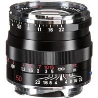 Image of Zeiss 50mm f/2.0 T* Planar, ZM Lens for Zeiss Ikon & Leica M Mount Rangefinder Cameras, Black (Open Box)