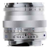 Image of Zeiss 50mm f/2.0 T* Planar, ZM Lens for Zeiss Ikon & Leica M Mount Rangefinder Cameras, Silver