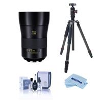 Image of Zeiss OTUS 55mm F/1.4 Apo Distagon T* ZE Lens for Canon EF - Bundle With FotoPro X-Go Max Carbon Fiber Tripod with Built-In Monopod, FPH-62Q Ball Head, Cleaning Kit, Microfiber Cloth