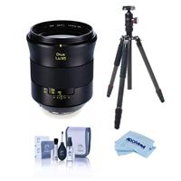 Image of Zeiss Otus 85mm f/1.4 Apo Planar ZE Manual Focusing Lens for Canon EF - Bundle With FotoPro X-Go Max Carbon Fiber Tripod with Built-In Monopod, FPH-62Q Ball Head, Cleaning Kit, Microfiber Cloth