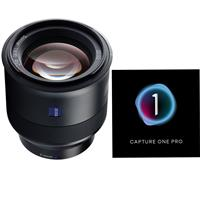 Image of Zeiss 85mm f/1.8 Batis Series Lens for Sony Full Frame E-mount NEX Cameras with Capture One Pro Photo Editing Software