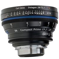 Image of Zeiss Zeiss Compact Prime CP 28mm f/2.1 T* (Feet) PL Bayonet Mount Lens.