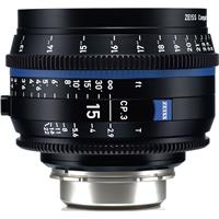 Image of Zeiss 15mm T2.9 CP.3 Compact Prime Cine Lens (Feet) Canon EF EOS Mount