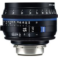 Image of Zeiss 15mm T2.9 CP.3 Compact Prime Cine Lens (Metric) Canon EF EOS Mount