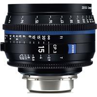 Image of Zeiss 15mm T2.9 CP.3 Compact Prime Cine Lens (Feet) with PL Bayonet Mount