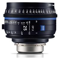 Image of Zeiss 25mm T2.1 CP.3 Compact Prime Cine Lens (Feet) with PL Bayonet Mount