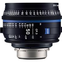 Image of Zeiss 50mm T2.1 CP.3 Compact Prime Cine Lens (Feet) with PL Bayonet Mount