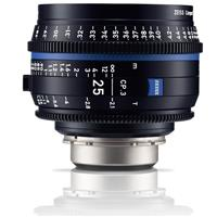 Image of Zeiss 25mm T2.1 CP.3 XD Compact Prime Cine Lens (Metric) PL Bayonet Mount