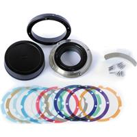 Image of Zeiss Interchangeable Mount Set (IMS) EF for CP.2 Planar 100/T2.1 CF Lens, Includes Lens Cap, Mount & Cover Ring, Adapter Ring, Bracket, Screws, Shims