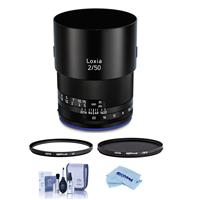 Image of Zeiss Loxia 50mm f/2 Planar T* Lens for Sony E Mount - Bundle With Hoya NXT Plus 52mm 10-Layer HMC UV Filter, Hoya NXT Plus, 52mm HMC Circular Polarizer Filter, Cleaning Kit, Microfiber Cloth