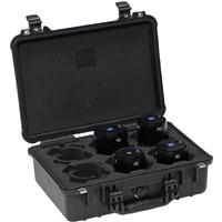Image of Zeiss Milvus ZF.2 Super Speed 4 Lens Bundle for Nikon with 25mm f/1.4, 35mm f/1.4, 50mm f/1.4, 85mm f/1.4 ZF.2 Lenses for Nikon with Transport Case & Gears