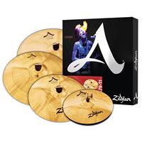 "Image of Zildjian A Custom Cymbal Set with 14"" Hi-Hats, 16"" Crash, 18"" Crash, 20"" Medium Ride"