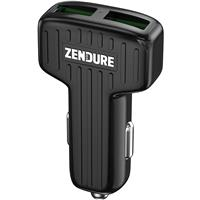 Image of Zendure 30W Car Charger with QC 3.0 and Dual USB Ports, Black