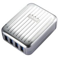 Image of Zendure A-Series 4-Port Desktop/Wall Charger with US, UK, EU Plug, Silver
