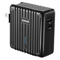 Image of Zendure MIX GO 5,000mAh 2-In-1 Power Bank and Wall Charger with Power Delivery and US, UK, EU Plug, Black
