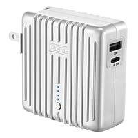 Image of Zendure MIX GO 5,000mAh 2-In-1 Power Bank and Wall Charger with Power Delivery and US, UK, EU Plug, Silver