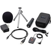 Image of Zoom H2N Accessory Package with Remote Control, Cable, Windscreen, USB AC Adapter, USB Cable, Tripod Stand, Case and Mic Clip Adapter