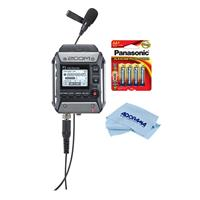 Compare Prices Of  Zoom F1 Field Recorder with Lavalier Microphone - Bundle With 4 Pack AA Alakline Battery, Microfiber Cloth