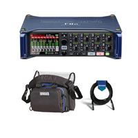 Image of Zoom F8n Multi-Track Field Recorder - Bundle With Orca OR-28 Mini Sound Bag, 20' Heavy Duty 7mm Rubber XLR Microphone Cable