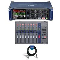 Image of Zoom F8n Multi-Track Field Recorder - Bundle With Zoom FRC-8 F-Control Remote Controller, 20' Heavy Duty 7mm Rubber XLR Microphone Cable