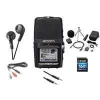 Image of Zoom H2N Handy Recorder with Five Built-in Mic Capsules, - Bundle With 16GB SDHC Card, Zoom H2N Accessory Package, JVC HA-F160 Gumy Earbud Headphones, 3.5mm to 3.5mm Stereo Cable 3.5mm Mini Male to 2 RCA