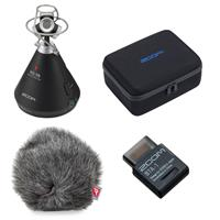 Image of Zoom H3-VR 360 Degree Virtual Reality Handy Audio Recorder with Built-In Ambisonics Mic Array - Bundle With Zoom Case for H3-VR, Rycote Mini Windjammer, Zoom Bluetooth Adapter