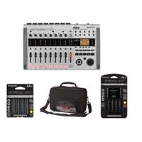 Compare Prices Of  Zoom R24 Recorder / Interface / Controller / Sampler, - Bundle With Gator G-MULTIFX-1510 Effects Pedal Bag, Panasonic Charger with 4 Pro Eneloop AA Size Batteries, 4x Eneloop Pro AA NiMH Batteries