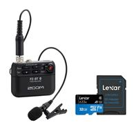 Image of Zoom F2 Bluetooth Field Recorder - With Lexar 32GB 633x microSDHC UHS-I Memory Card