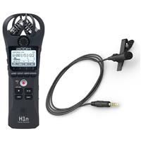 Image of Zoom H1n Digital Handy Recorder - With Stony Edge Simple Lav Mobile Condenser Omni-Directional Lavalier/Lapel Microphone