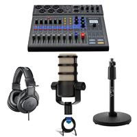 Compare Prices Of  Zoom LiveTrak L-8 Portable 8-Channel Mixer and Multitrack Recorder - Bundle With Rode PodMic Dynamic Podcasting Microphone,Swing Arm, AT TH-M20x Pro Monitor Headphones, H&A Tabletop Mic Stand, Cable
