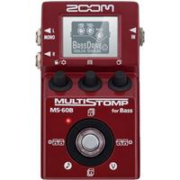 Image of Zoom MS-60B Multistomp Bass Effects Pedal with Amp Modeling, Stompbox and Studio Effects, Built-in Tuner, Large LCD Display