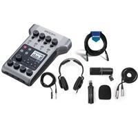 Image of Zoom PodTrak P4 Podcast Recorder Bundle with Zoom ZDM-1 Podcast Mic and XLR Cable