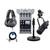 Compare Prices Of  Zoom PodTrak P4 Podcast Recorder - Bundle with Studio Mic, Headphones, Cable