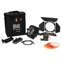 Image of Zylight F8-200 Daylight 200W LED Fresnel Single Head ENG Kit with V-Mount Battery Plate and Case