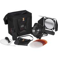 Image of Zylight F8-D LED Fresnel Single Head ENG Kit with V-Mount, Includes F8 Daylight, F8 Adapter, Bag, Barn Doors, F8 V-Mount Battery Kit, F8 Filter Kit, Case