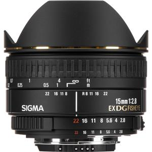 Choose 15mm f/2.8 EX DG AutoFocus Diagonal Fish-Eye Lens for Nikon AF D Cameras - USA Warranty Product photo