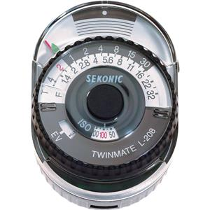 Stylish L-208 Twinmaster Compact Incident / Reflected Light Meter Product photo