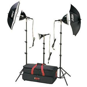 Splendid K6RC 3 Light, 1250 watt Home Portrait Lighting Kit with Light Cart on Wheels Carrying Case. Product photo