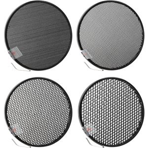 "Amazing 7"" Honeycomb Grid Set for the M11 & M11Q Reflectors with 10 deg., 20 deg., 30 deg. and 40 d Product photo"