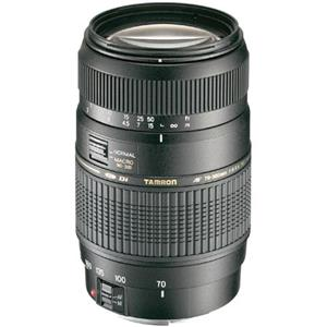 Pretty 70-300mm f/4-5.6 Di LD 1:2 Auto Focus Macro Zoom Lens with Hood for Canon EOS, 6 Year USA Warranty Product photo