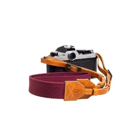 A The Porter CanvasSuede Camera Strap Length Burgundy 120 - 595