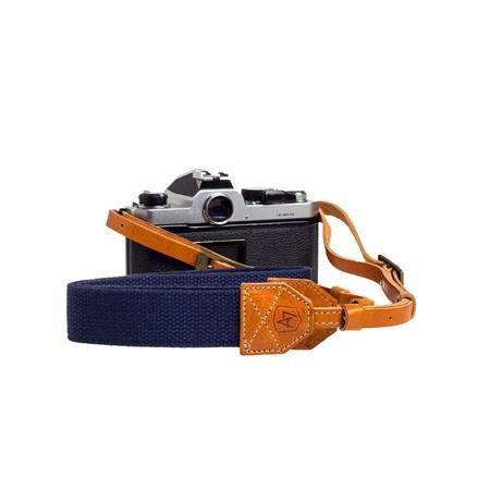 A The Porter CanvasSuede Camera Strap Length Navy 120 - 595