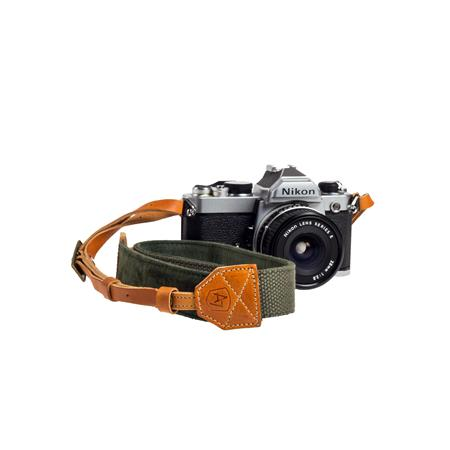 A The Porter CanvasSuede Camera Strap Length Olive 154 - 231